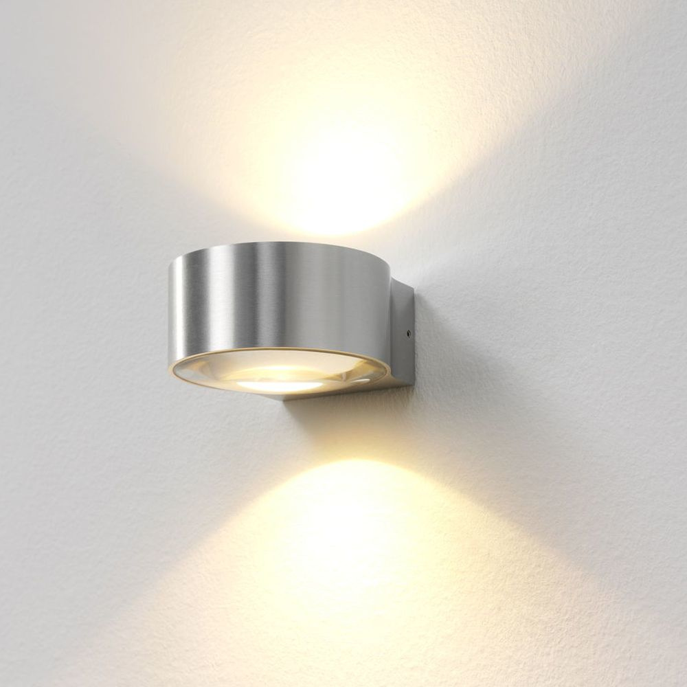 famlights | Wandleuchte Hudson in silber, up- & down