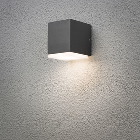 LED Wandleuchte Monza, anthrazit, IP44, downlight