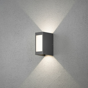 LED Wandleuchte Cremona, anthrazit, IP54, Up- and Downlight
