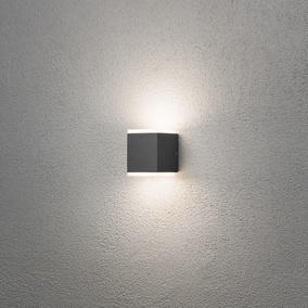 LED Wandleuchte Monza, anthrazit, IP44
