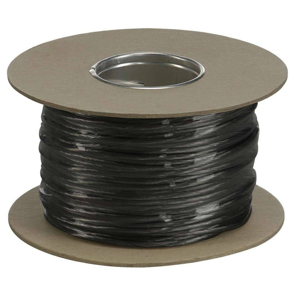 4 mm² Tenseo Seilsystem schwarz Niedervolt-Seil 20 m