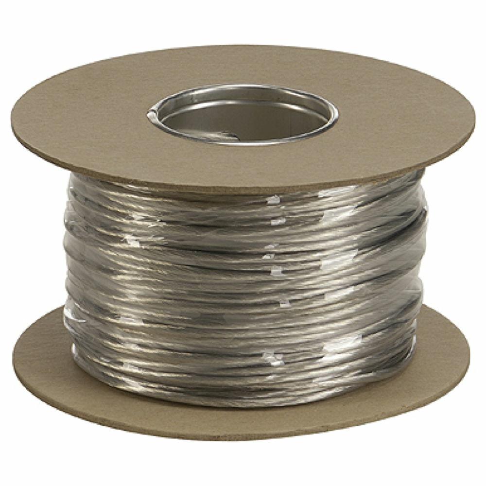 20 m 4 mm² Niedervolt-Seil schwarz Tenseo Seilsystem