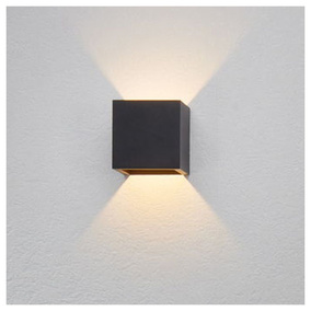 famlights | Wandleuchte Cube, anthrazit, up- & down