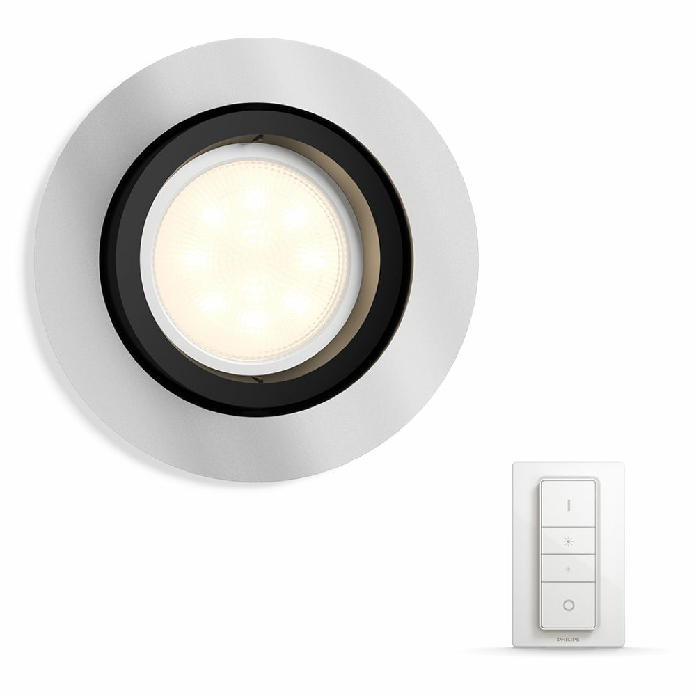 philips hue white ambiance milliskin einbaustrahler philips hue click. Black Bedroom Furniture Sets. Home Design Ideas