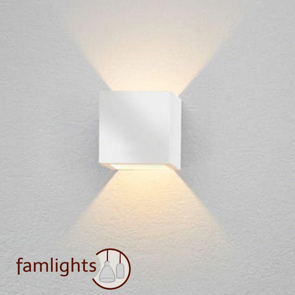 PHILIPS LED G9 Gips Wandleuchte LENA dimmbar Cube Up Down Wandlampe eckig weiß