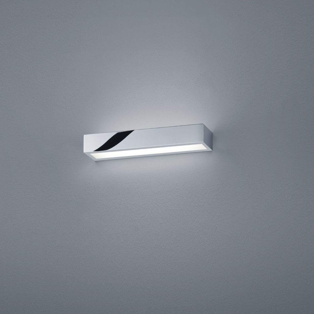 LED Wandleuchte Theia in chrom 12W 930lm IP44 300mm