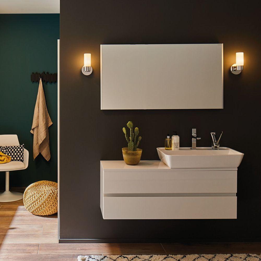 wandleuchte glas satiniert chrom machen sie den preisvergleich bei nextag. Black Bedroom Furniture Sets. Home Design Ideas