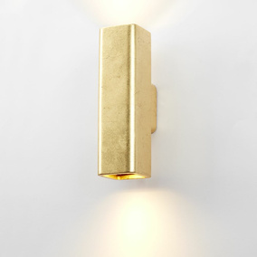 famlights | Gipswandleuchte Thorsten in Gold GU10 max. 2...