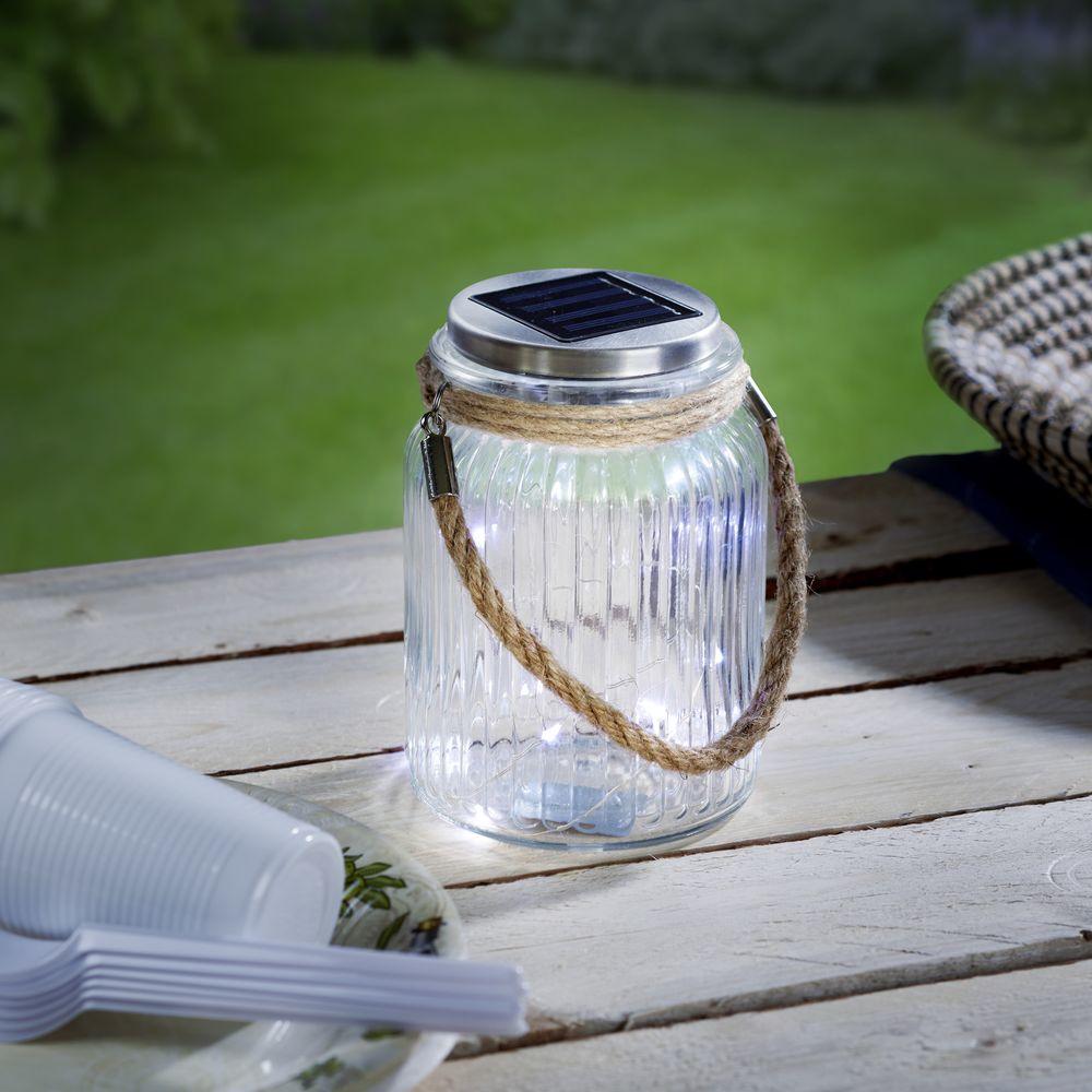 led solar tischleuchte aus glas mit kordel eglo 48567 click. Black Bedroom Furniture Sets. Home Design Ideas