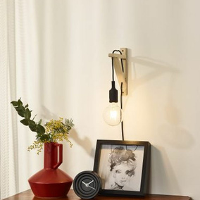 holz lampen f r nat rliches wohnen click. Black Bedroom Furniture Sets. Home Design Ideas