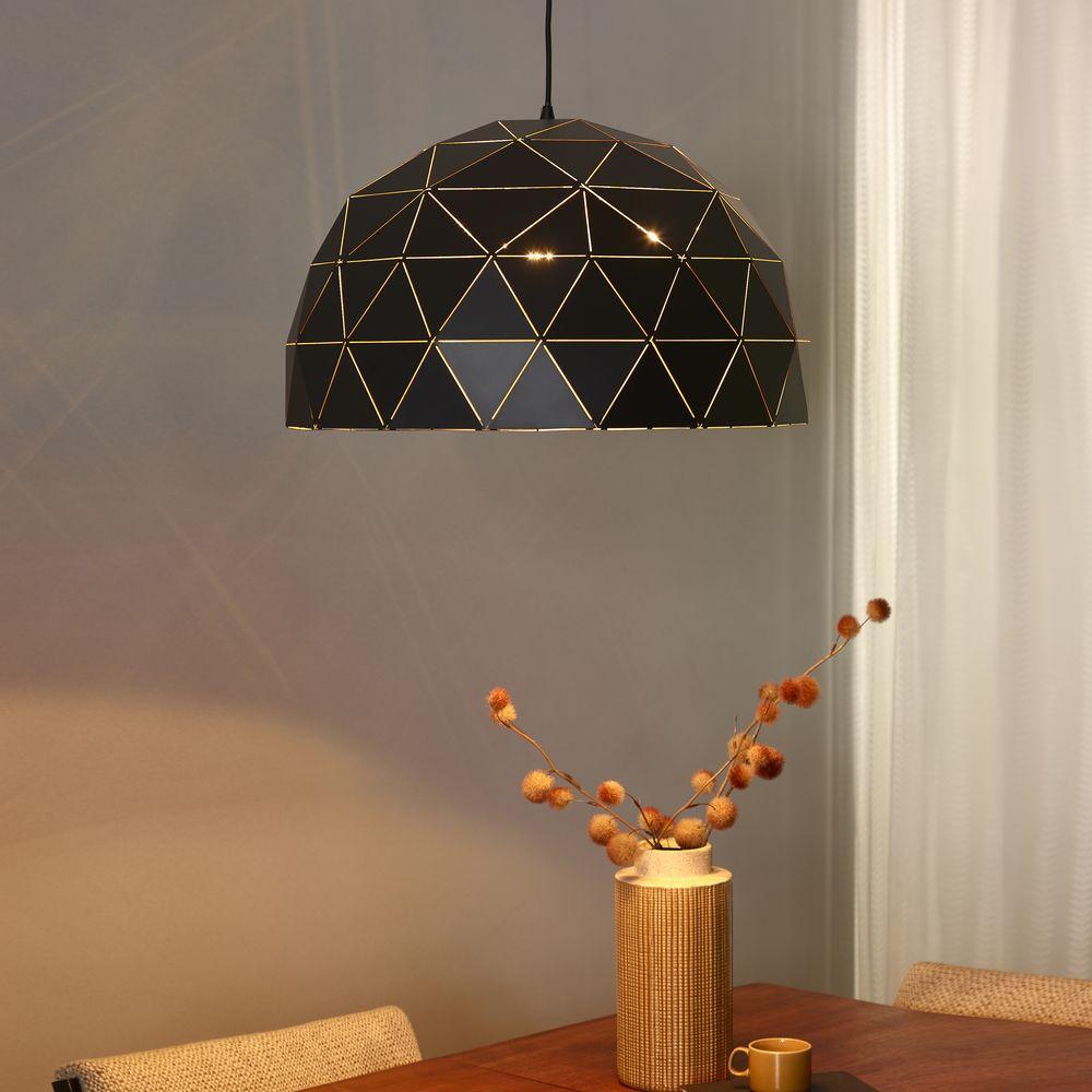 pendelleuchte otona in schwarz 3 flammig lucide 21409 60 30 click. Black Bedroom Furniture Sets. Home Design Ideas