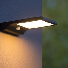 LED Wandleuchte Deckenleuchte m Bewegungsmelder Sensor weiss IP44 Aussenleuchte