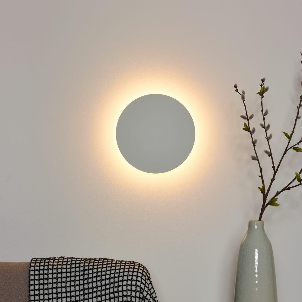 led wandleuchte eklyps wei rund 3000k lucide click. Black Bedroom Furniture Sets. Home Design Ideas