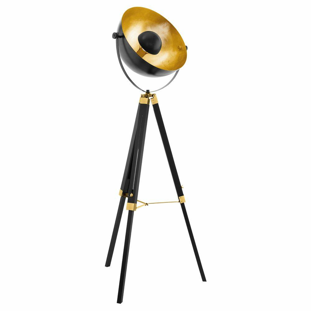 Vintage Stehleuchte Covaleda Schwarz Messing Gold Click Licht De