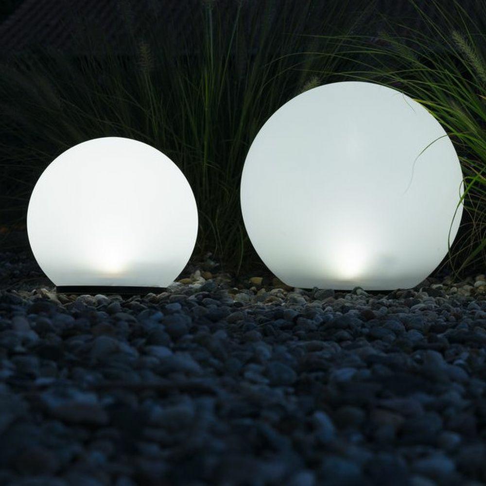 Solar Gartenkugel Hauseingang IP44 Kunststoff Acryl LED Modern