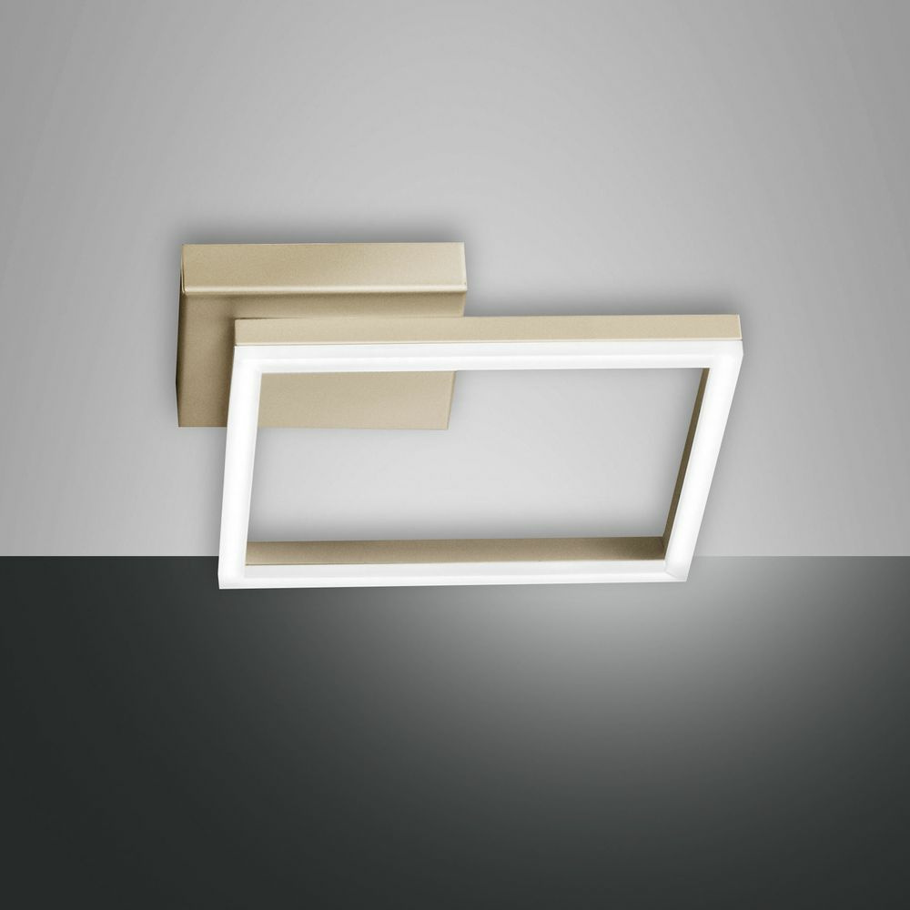 LED Deckenleuchte Bard in gold-matt 22W 1980lm 150x150mm