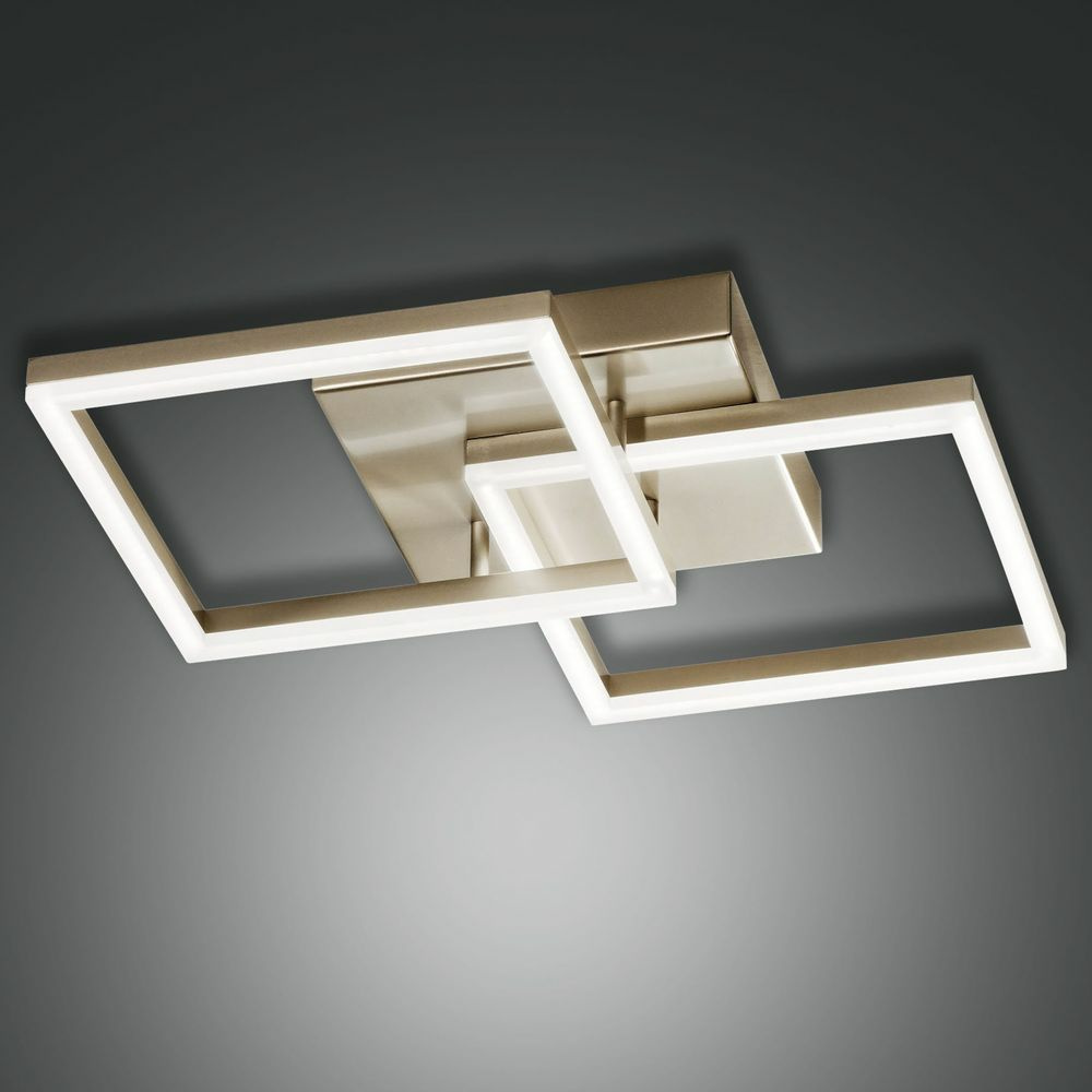 LED Deckenleuchte Bard in gold-matt 39W 3510lm dimmbar