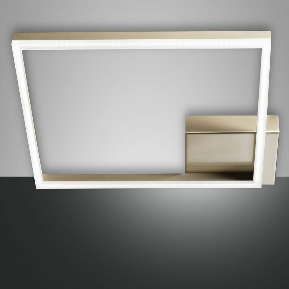 LED Deckenleuchte Bard in gold-matt 39W 3510lm dimmbar 420x420mm