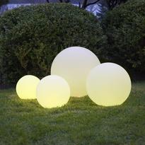 LED Garten Deko Kugel Twilight weiß rund mit Fernbedienung | Best ...