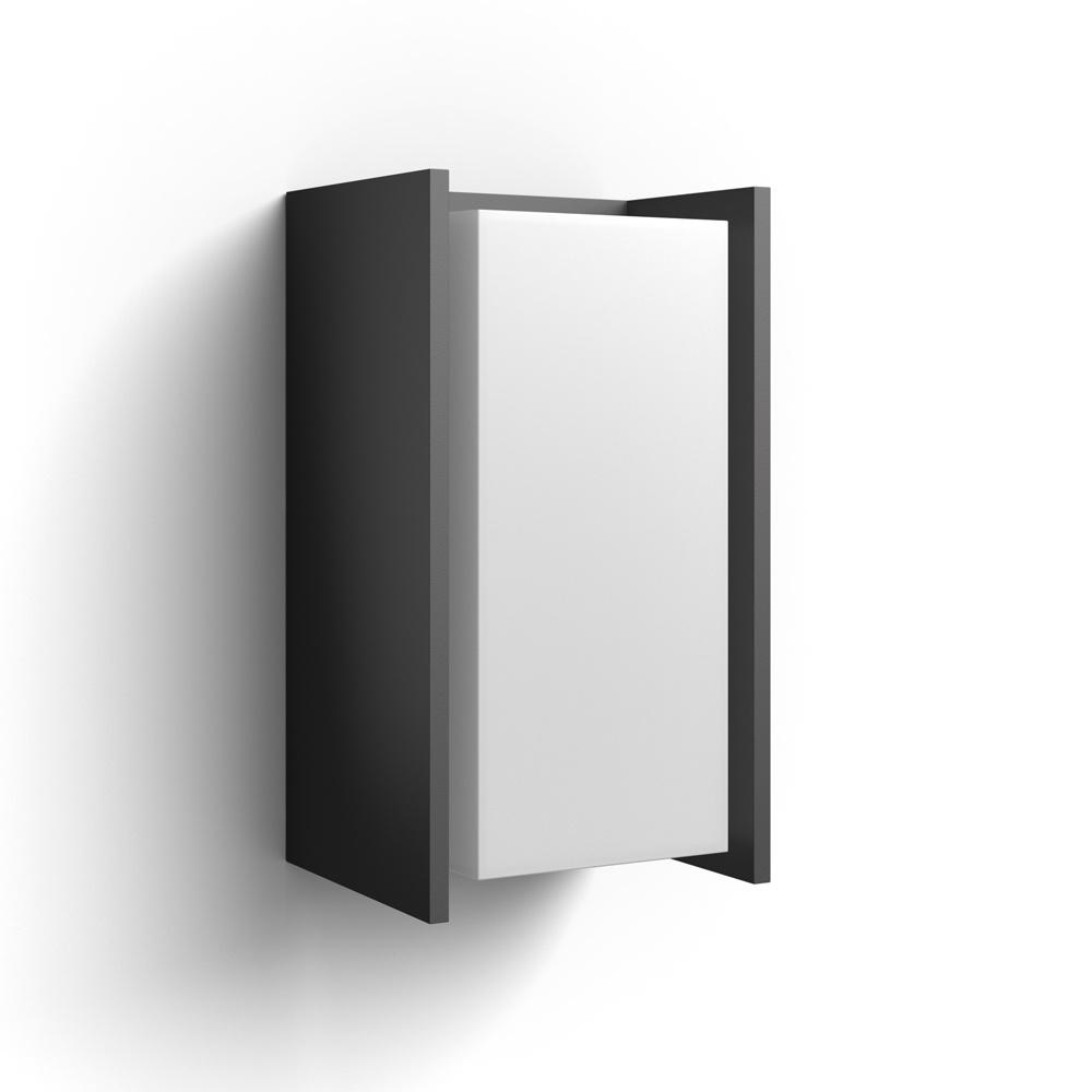 philips hue led wandleuchte turaco anthrazit inkl hue white philips hue 1647293p0 click. Black Bedroom Furniture Sets. Home Design Ideas