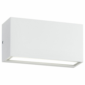 LED Wandleuchte in Weiß-Matt 10W 800lm IP65