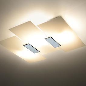Design LED Deckenleuchte Chrom Wohn Zimmer Lampen Küchen Strahler Flur Leuchten