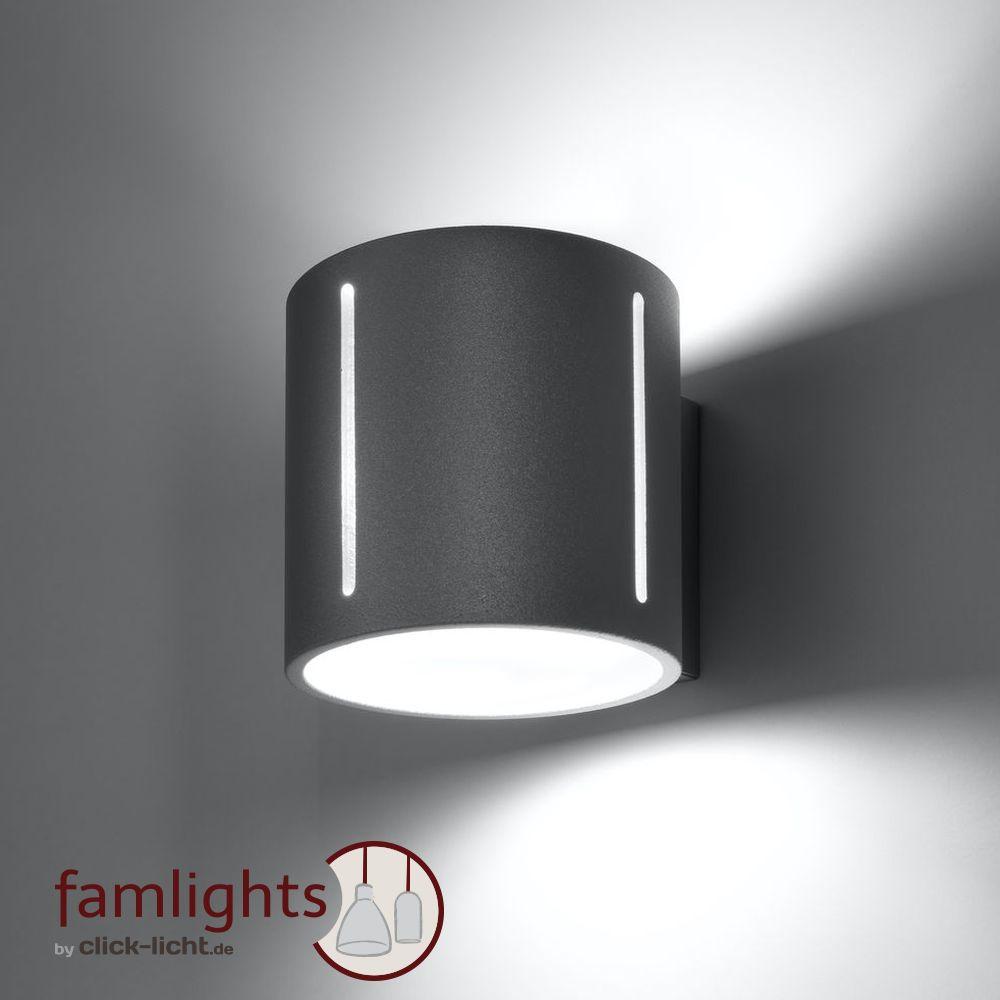 Wand Lampe Strahler Leuchte Aluminium gebürstet 40W Edelstahl LED Beleuchtung