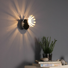 LED Wandleuchte Bloom in Silber 5W 300lm