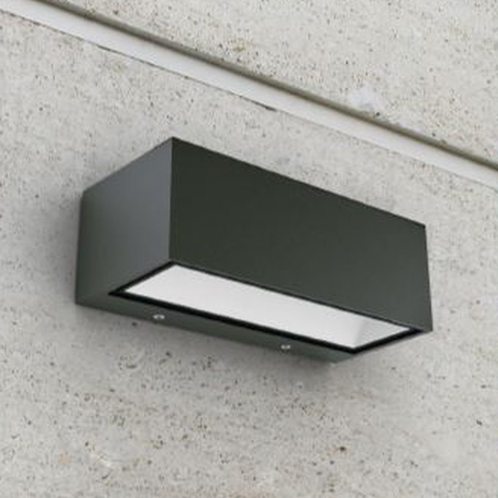 LED Außenwandleuchte Gemini in Anthrazit Up- And Downlight 4000K 85x103x220mm