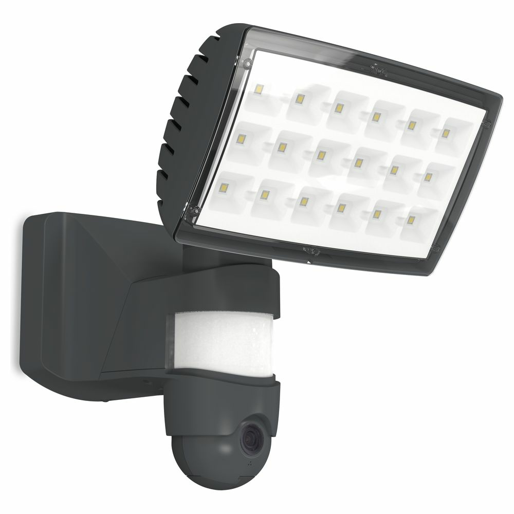LED Wandleuchte Secury Light Peri in Anthrazit 2120lm IP44