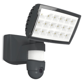LED Wandleuchte Secury\'Light Peri in Anthrazit 2120lm IP44