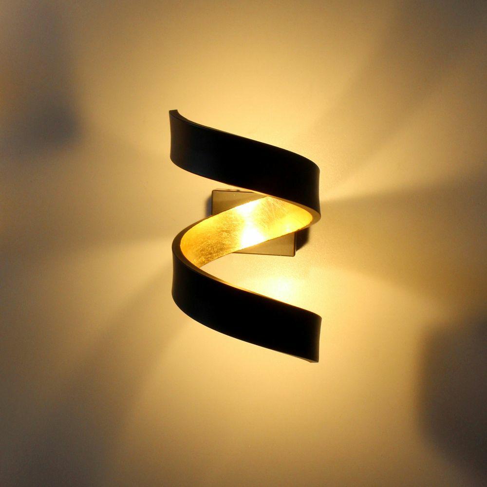 led wandleuchte helix in schwarz und gold luce ambiente. Black Bedroom Furniture Sets. Home Design Ideas