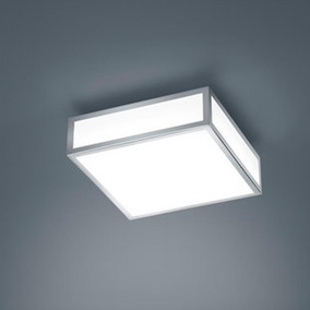 LED Deckenleuchte Zelo in Chrom 12W 960lm IP44 220x220mm