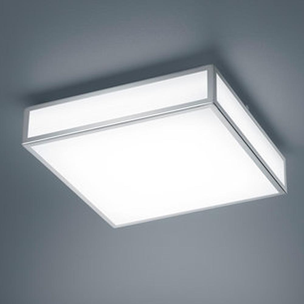 LED Deckenleuchte Zelo in Chrom 18W 1440lm IP44 300x300mm