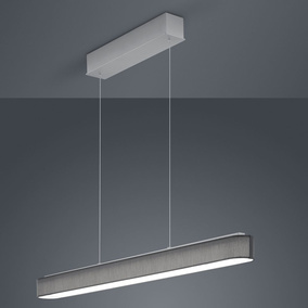 LED Pendelleuchte Bora in Grau und Nickel-matt 30W 3300lm