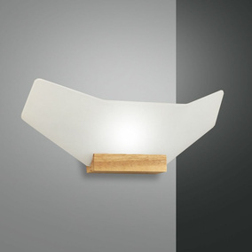 LED Wandleuchte Flap in Natur 1350 lm