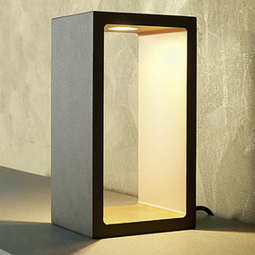 mylight LED Tischleuchte Corridor in braun gold