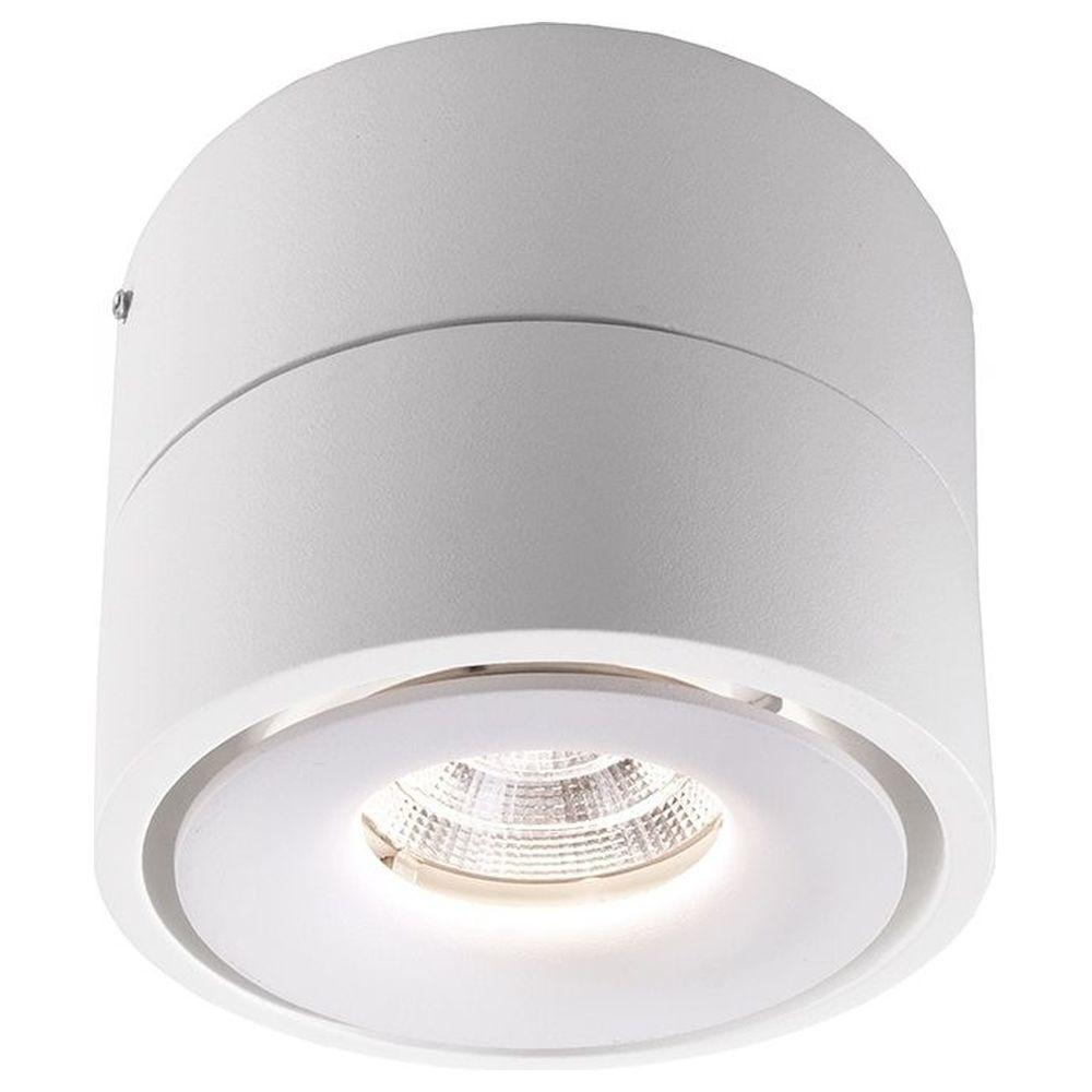 LED Deckenaufbauleuchte Uni II in Weiß und Transparent 20W 20lm