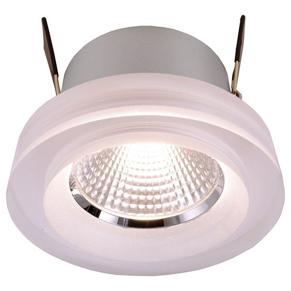 LED Deckeneinbauleuchte COB 68 Acryl in Transparent-Satiniert 8W 590lm