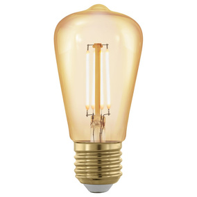 LED Leuchtmittel E27, 4W, Standardform ST48, Amber -...