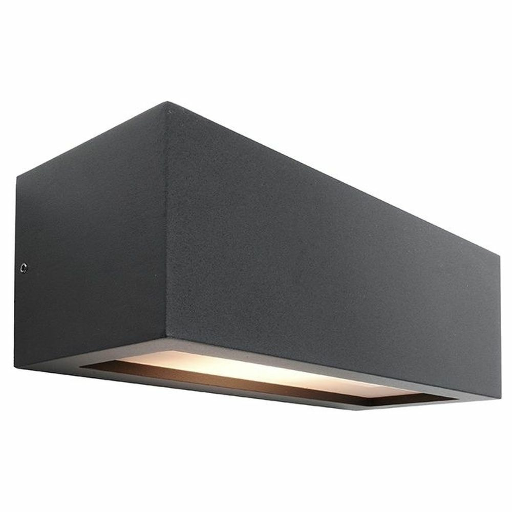 Wandleuchte Deckenleuchte Aluminium E27 IP54 LED Modern schwarz