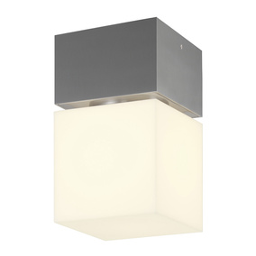 LED Deckenaufbauleuchte Square C in Silber 12W 760lm IP44