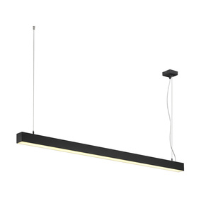 LED Pendelleuchte Q-Line Dali Single in Schwarz 47W 3700lm
