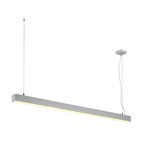LED Pendelleuchte Q-Line Dali Single in Silbergrau 47W...