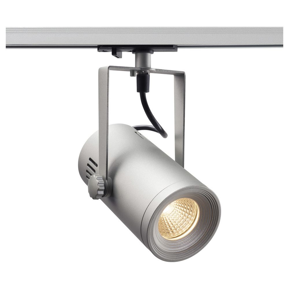 LED 1-Phasen Schienensystem Euro Spot Track Spot in Silbergrau 11W 650lm