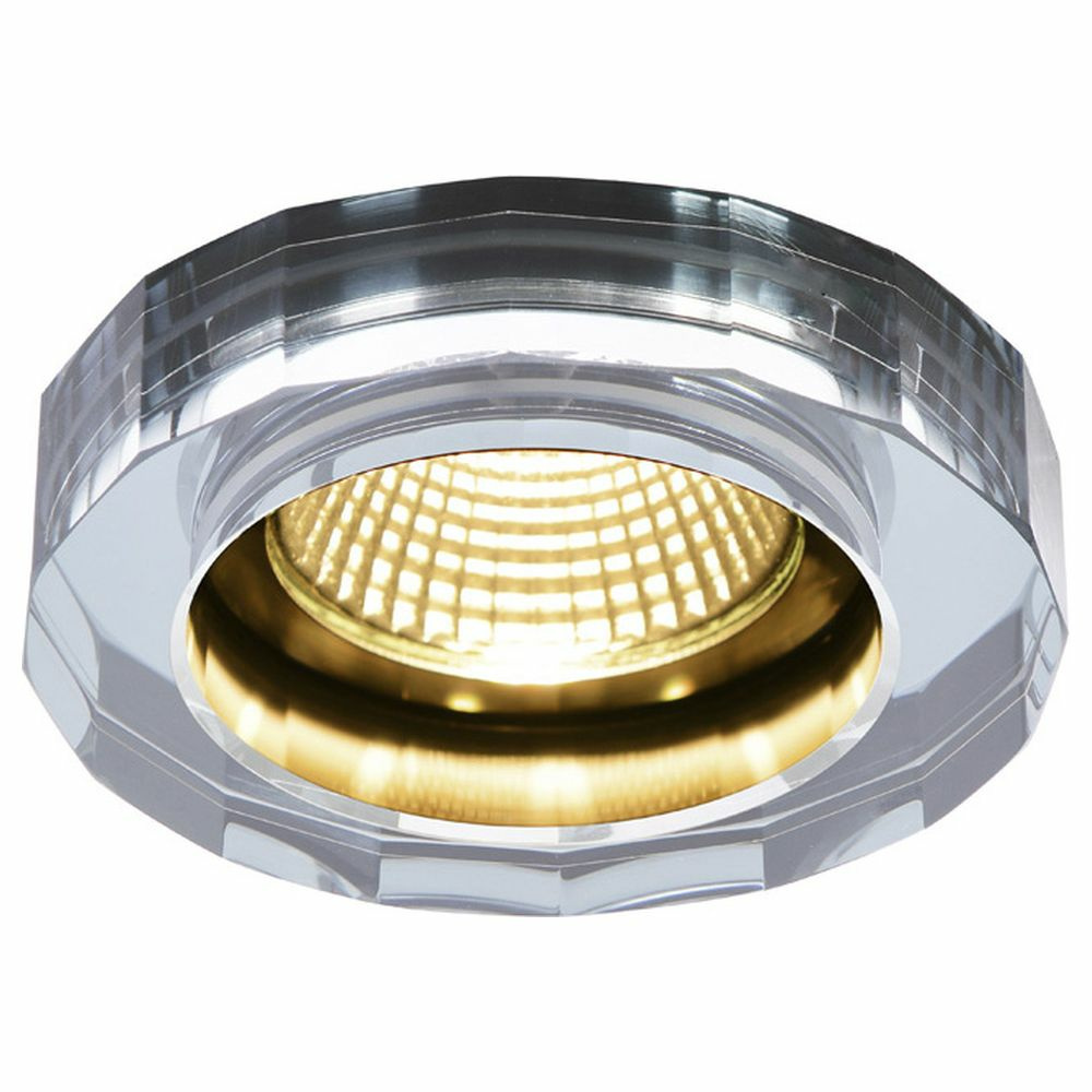 LED Deckeneinbauleuchte Crystal Dl in Chrom 7,3W 460lm