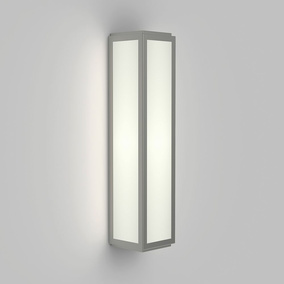 LED Wandleuchte Mashiko in Nickel-Matt 7,9W 394lm IP44