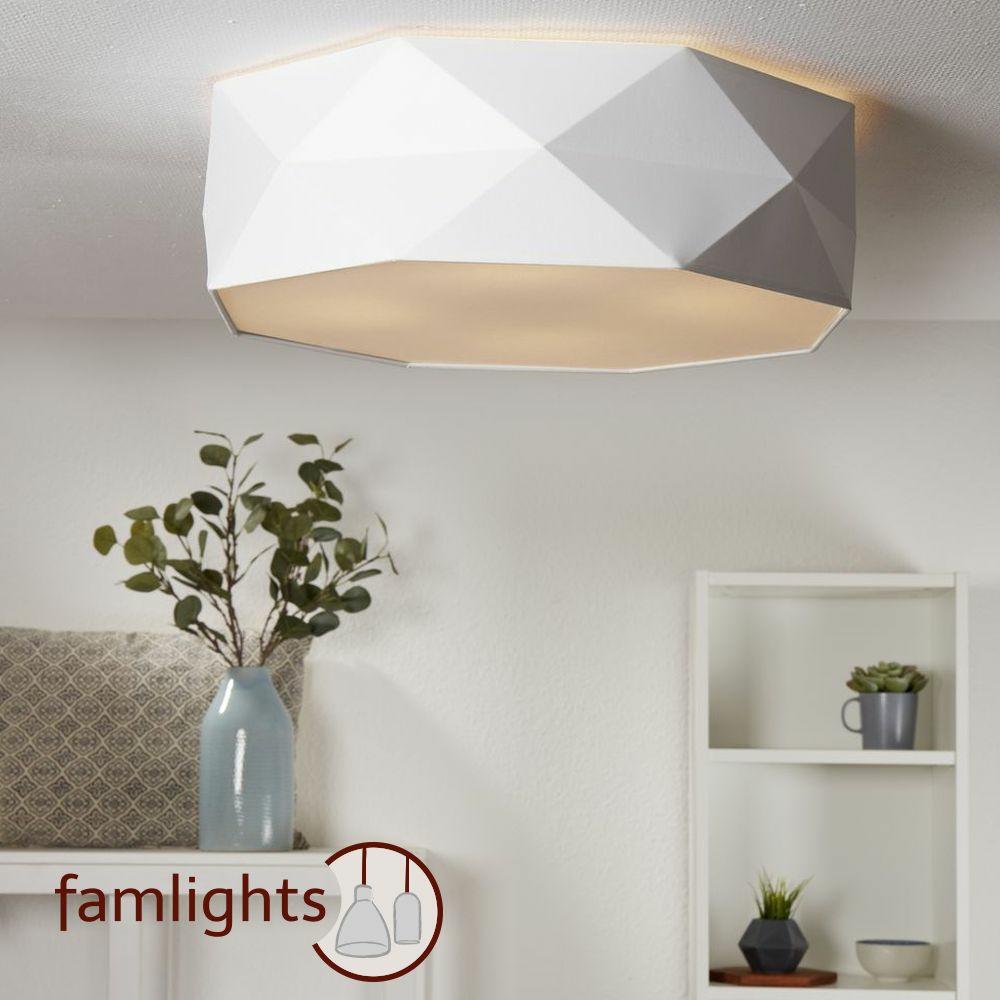 famlights deckenleuchte samuel aus stoff 4xe27 rund. Black Bedroom Furniture Sets. Home Design Ideas