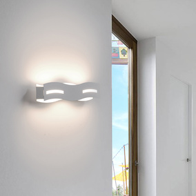 LED Wandleuchte Wave in Nickel-matt 12W 800lm