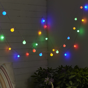 LED Lichterkette Berry 50-teilig in Bunt